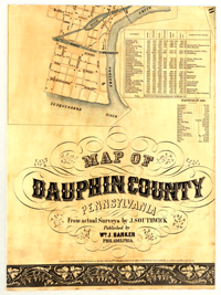 PA State Archives MG Dauphin County Map Interface - Dauphin county on us map