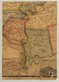 PA State Archives MG Dauphin County Map - Dauphin county on us map