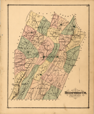 PA State Archives MG11 1877 Bedford County Atlas Interface