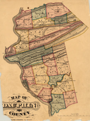 PA State Archives MG Dauphin County Atlas Interface - Dauphin county on us map