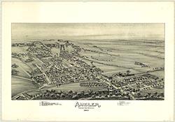 BUCKS COUNTY SELLERSVILLE P.O COPY PLAT ATLAS MAP PENNSYLVANIA 1891 ROCKHILL
