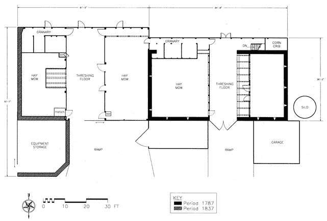 Bertolet Barns Berks County Upper Level Plan