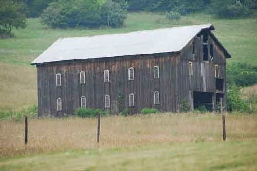 Image Of A Wood Frame Sheep Shed With Louvered Windows In Washington County