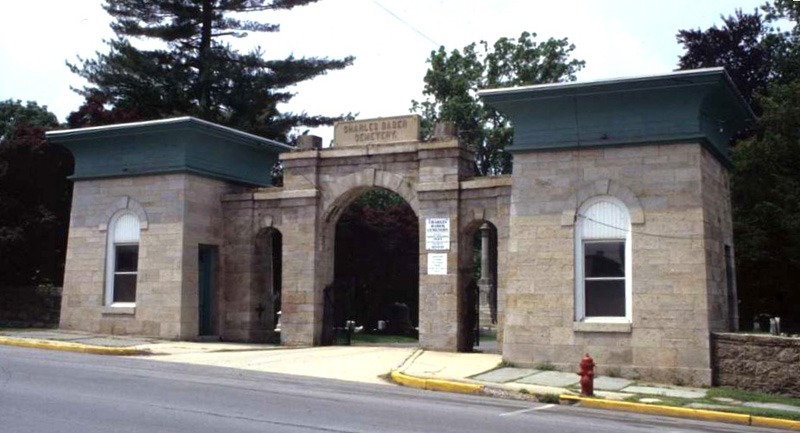 Egyptian Revival Style Pottsville Cemetery Gatehouse Schuylkill County