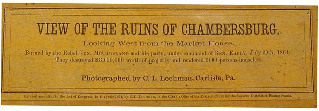 Burning of Chambersburg Pennsylvania (Illustrated)